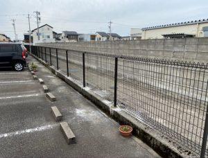 フェンスの復旧工事